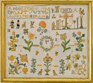 Needlework Sampler dated 1766