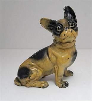 Antique Sitting French Bulldog Dog Cast Iron Hubley