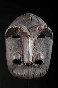 Antique Alaskan Native INUIT Mask - With CERTIFICATE