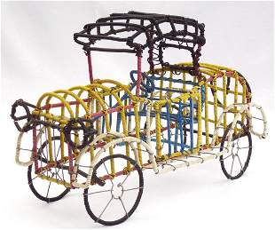 Detailed and colorful Folk Art car by Clifton Eugene