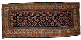 Handmade antique Caucasian Gendje rug 3.5' x 7.3'