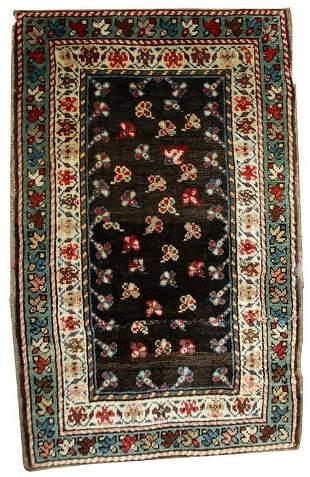 Handmade antique Caucasian Gendje rug 1.9' x 3.3' (58cm