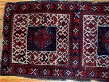 Handmade antique Afghan Baluch double bag face 2' x