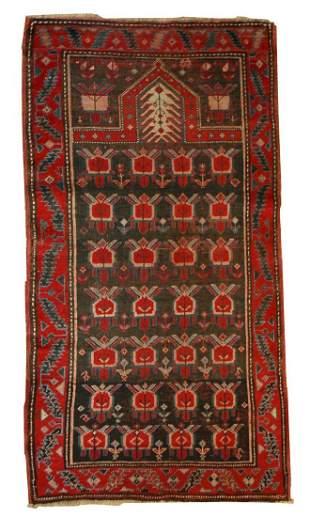 Handmade antique Caucasian Karabagh rug 2.10' x 4.11' (