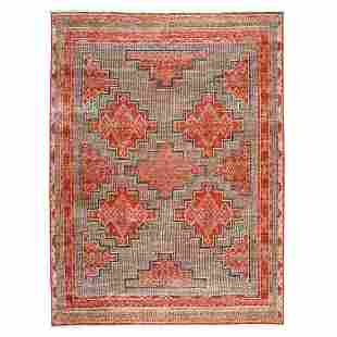 Hand Knotted Pure Wool Peshawar With Berber Motifs
