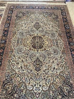 Vintage Hand Knotted Rug, Tabriz , Area Rug,11' x 7'.