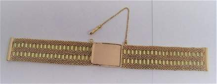 SOLID 14k Rose/Green GOLD Watch Bracelet to fit 18 mm