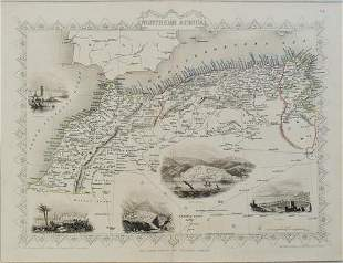 1851 Tallis Map of North Africa -- Northern Africa