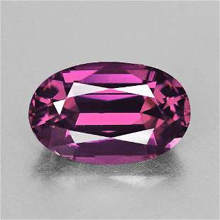 9x6 mm Oval {1.90 cts} Fire Raspberry Pink Rhodolite