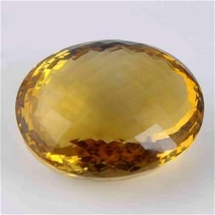 107.9 Carat Yellow Color Natural Oval Citrine Quartz