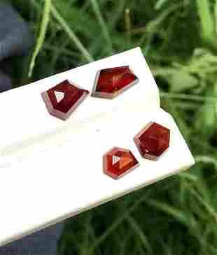 Garnet Rose Cuts , Natural Red Color Garnet Gemstones ,
