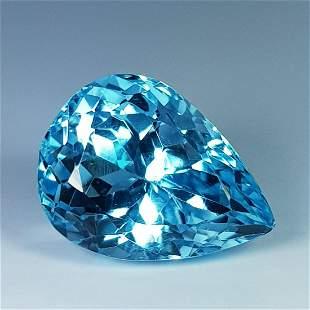 7.80 Ct Natural Pear Cut Top Quality Blue Topaz