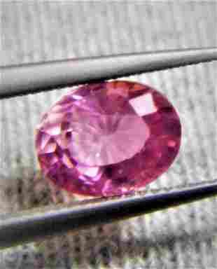 Pink Orange Sapphire No Heat Certified - 1.04 ct