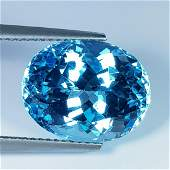 11.30 Ct Natural Oval Cut Top Quality Blue Topaz