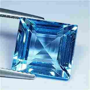 10.50 Ct Natural Square Cut Top Quality Blue Topaz