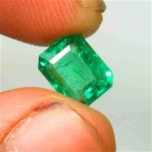 2.32 Ctw Natural Zambian Emerald Oval Cut