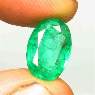 3.16 Ctw Natural Zambian Emerald Oval Cut