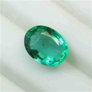 1.69 Ctw Natural Zambian Emerald Oval Cut