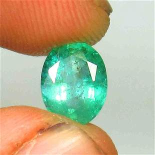 1.75 Ctw Natural Zambian Emerald Oval Cut