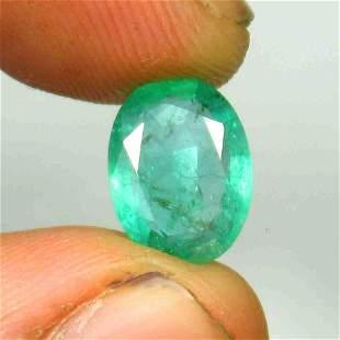 3.14 Ctw Natural Zambian Emerald Oval Cut