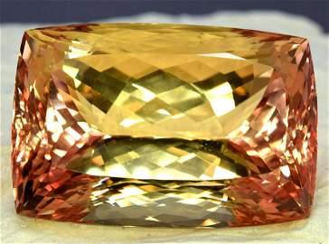 Bicolor Kunzite Gemstone , Peach Pink Kunzite Cut Stone