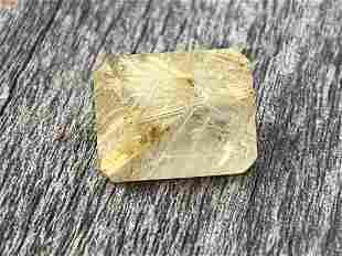 Rutilated Quartz Square Cut 3.00 Carats Natural Loose