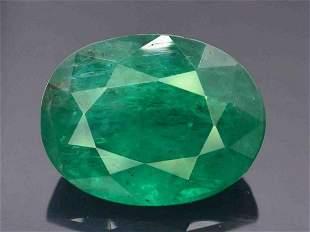 Zambian Emerald Gemstone , Emerald Cut Stone , Natural