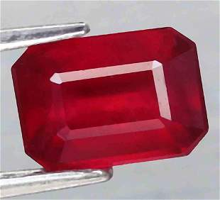 2,33 cts Natural Octagon Blood Red ruby