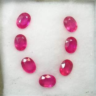 11.29 Ct Natural 7 Mozambique Pinkish Red Ruby Oval