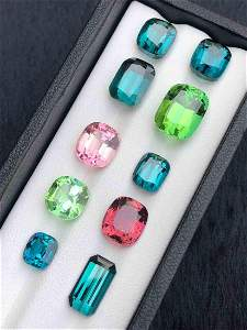 36 Carats Top Quality Tourmaline Collection 10 Pieces