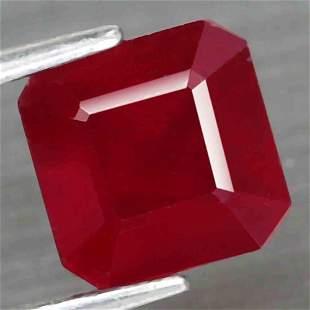 4,26 cts Natural Big Scissor Cut Blood Red Ruby