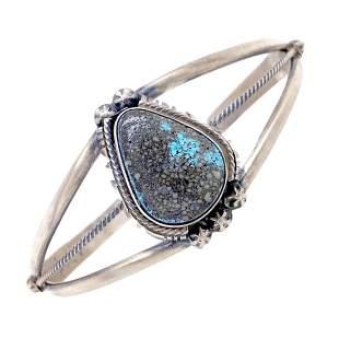 Desert Skies Turquoise Teardrop Silver Bracelet