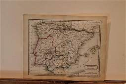 1828 Map of Ancient Spain
