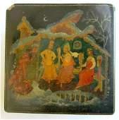 1964 RUSSIAN PALEKH LACQUER BOX VINTAGE RARE ARTIST