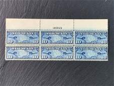 10 Cent Map of U.S. and Airplanes US Airmail Stamp