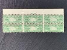 20 Cent Map of U.S. and Airplanes US Airmail Stamp