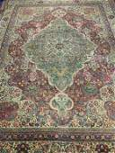 Antique Hand Knotted Persian Kermen 11.9x8.9 ft