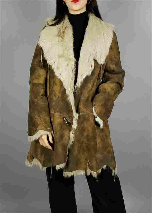 Brown Fox Fur Jacket Size M