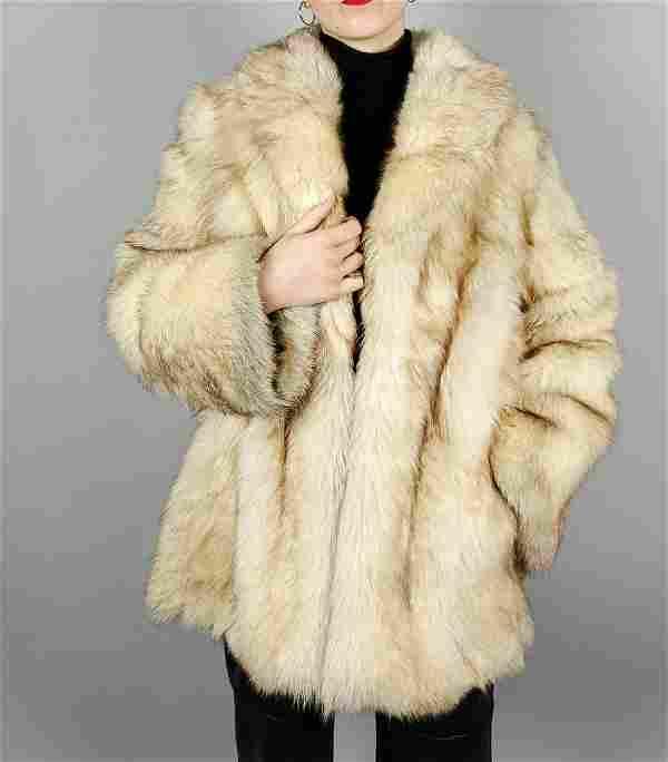 Light Brown Fox Fur Jacket Size L