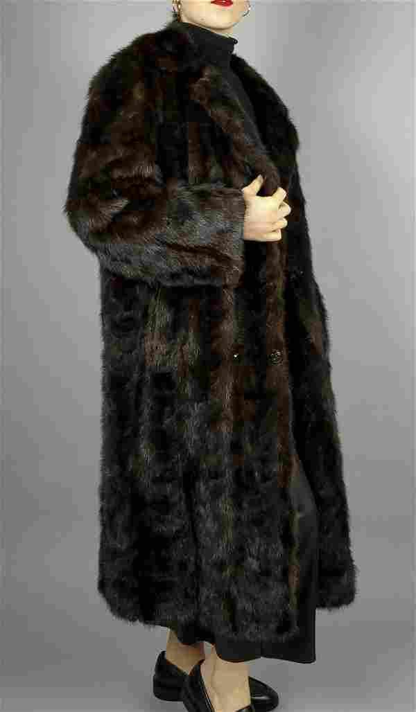 Dark Brown Mink Fur Coat Size L
