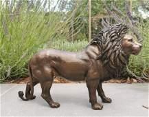 Bronzen Lion - garden sculptures - Bronze animals -