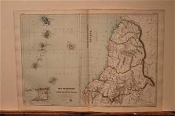 1889 Map of South Carribean Islands
