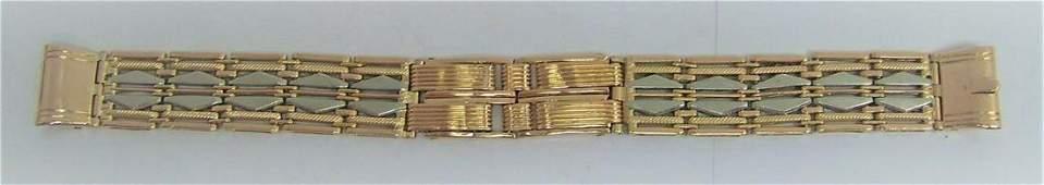 Solid 14k Rose GOLD & Platinum Watch Bracelet 16 mm in