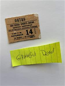 GRATEFUL DEAD 1973 TICKET STUB