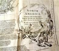 1752 Wall Map of North America