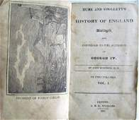 1828 2 VOLUMES HISTORY of ENGLAND by HUME & SMOLLET