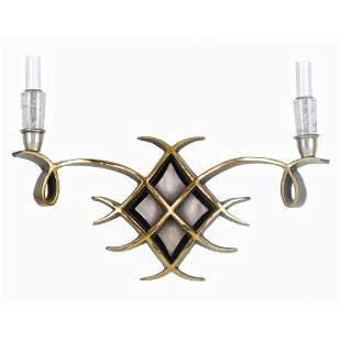 Art Deco, style by Jules Leleu, Bronze,w/ Rock Crystal