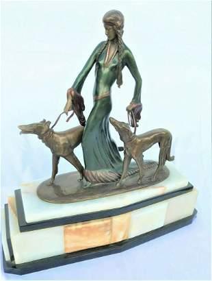 Art Deco Sculpture ,Bronze , The Aristocrats , after