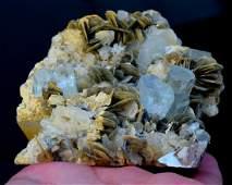 Aquamarine Specimen , Aquamarine var Beryl Crystals