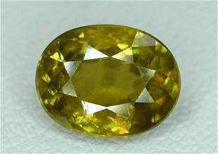Fire Chrome Sphene Loose Gemstone - 1.90 Carats